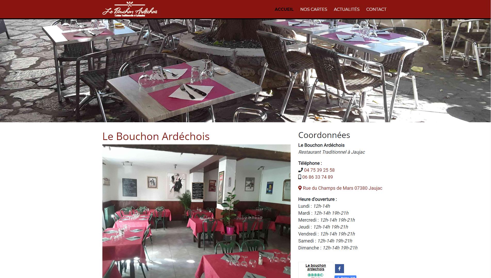 Photo du site Le Bouchon Ardéchois